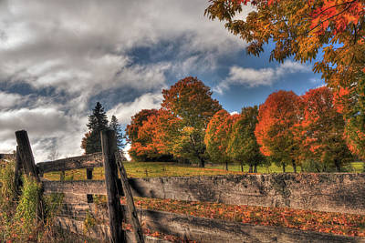 Photograph - Vermont Autumn Scene by Joann Vitali