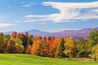 Photograph - Vermont Autumn View by Alan L Graham
