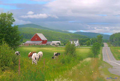 Digital Art - Vermont Backroad by John Selmer Sr