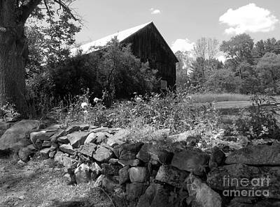 Lego Art - Vermont Barn and Stone Wall by Susan Lafleur