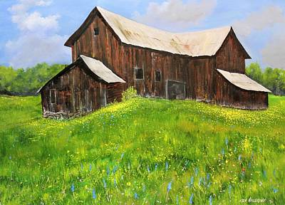 Painting - Vermont Barn by Ken Ahlering