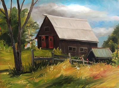 Painting - Vermont Barn by Nancy Griswold