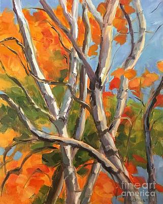 Painting - Vermont Birches by Lynne Schulte