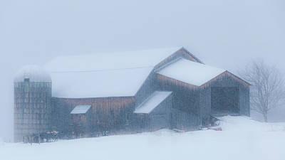 Photograph - Vermont Blizzard by Alan L Graham