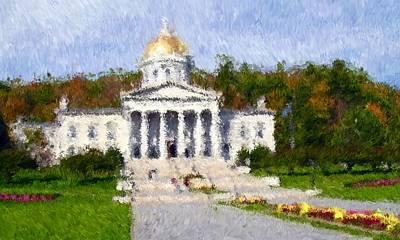 Vermont Capital Art Print by Ralph Liebstein