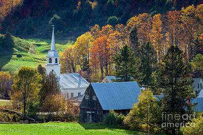 Photograph - Vermont Church by Brian Jannsen