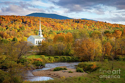 Photograph - Vermont Church II by Brian Jannsen