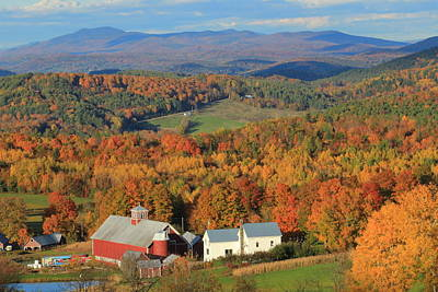 Photograph - Vermont Country Scene In Autumn by John Burk