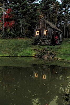 Photograph - Vermont Country Store Grist Mill by Dan Sproul