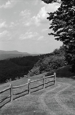Print featuring the photograph Vermont Countryside 2006 Bw by Frank Romeo
