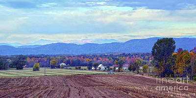 Vermont Countryside In Autumn Art Print by Catherine Sherman