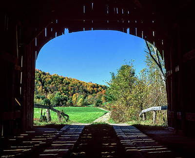 Photograph - Vermont Covered Bridge by Gary Shepard