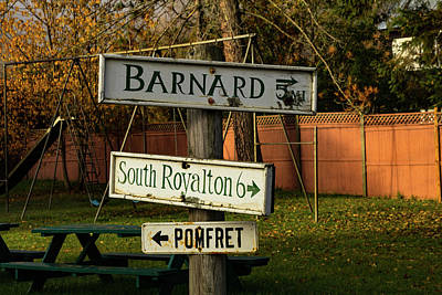 Photograph - Vermont Crossroads Signs by Jeff Folger