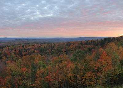 Photograph - Vermont Fall Foliage Sunset Hogback Mountain by John Burk
