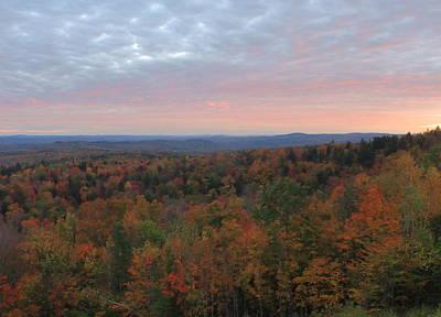 Photograph - Vermont Fall Foliage Sunset Hogback Mountain by John Burk