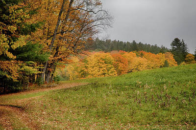 Photograph - Vermont Fall Foliage View Across The Farm Field by Jeff Folger