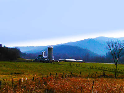 Frame House Digital Art - Vermont Farm by Bill Cannon