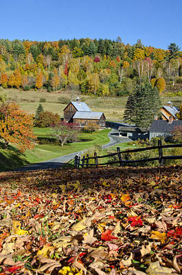 Photograph - Vermont Farm In Autumn by Donna Doherty
