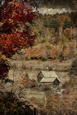 Photograph - Vermont Farm Nestled In Valley by Jeff Folger
