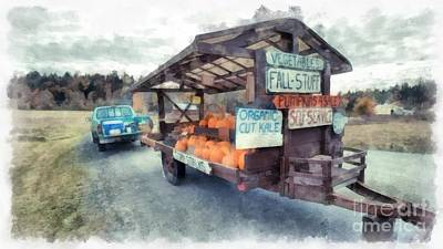 Vermont Farm Stand Art Print by Edward Fielding
