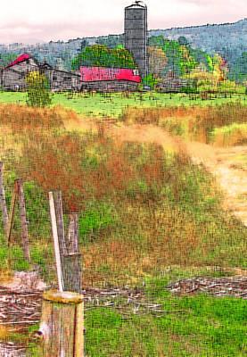 Barnyard Digital Art - Vermont Farmland 3 by Steve Ohlsen