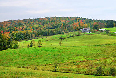 Photograph - Vermont Farmland by Luke Moore