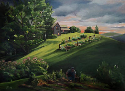 Painting - Vermont Gardens by Nancy Griswold