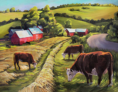 Painting - Vermont Going For The Green On Jenne Farm by Nancy Griswold