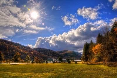 Fall Scenes Photograph - Vermont Green Mountains Autumn by Joann Vitali
