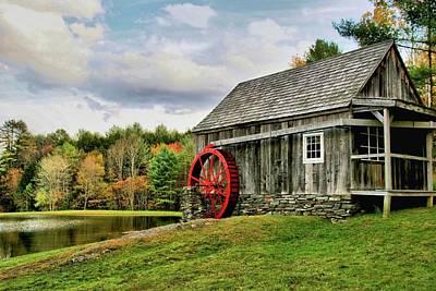 Photograph - Vermont Grist Mill by DJ Florek