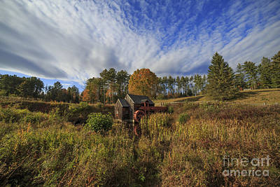 Calendars Photograph - Vermont Grist Mill Panoramic by Edward Fielding