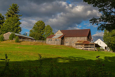 Photograph - Vermont Hilltop Farm by Vance Bell