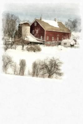 Painting - Vermont Jenne Farm Winter  by Edward Fielding