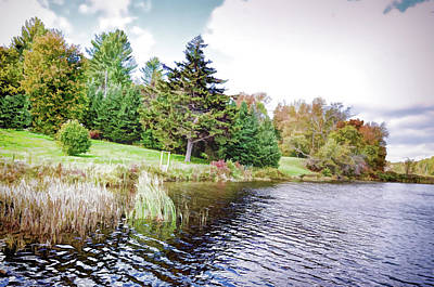 Photograph - Vermont Lakeside by Rena Trepanier