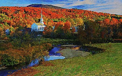 Painting - Vermont, Landscape - 01 by Andrea Mazzocchetti