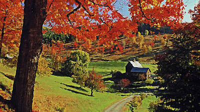 Painting - Vermont, Landscape - 02 by Andrea Mazzocchetti