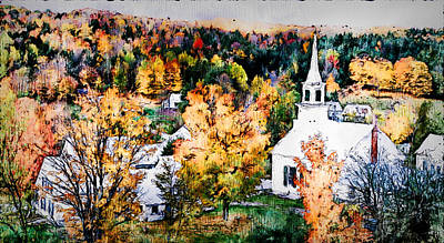 Painting - Vermont, Landscape - 03 by Andrea Mazzocchetti