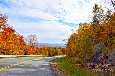 Vermont Mountain Road Art Print by Catherine Sherman