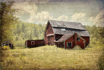 Photograph - Vermont Red Barn  by Betty  Pauwels