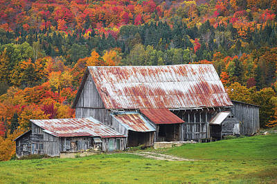 New England Dairy Farms Photograph - Vermont by Robert Clifford