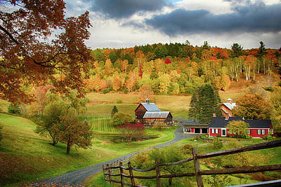 Vermont Sleepy Hollow In Fall Foliage Art Print
