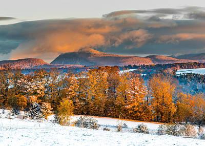 Vermont Snowliage Scene Art Print