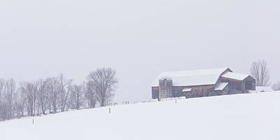 Photograph - Vermont Snowstorm Panorama by Alan L Graham