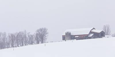 Photograph - Vermont Snowstorm Panorama by Alan L Graham