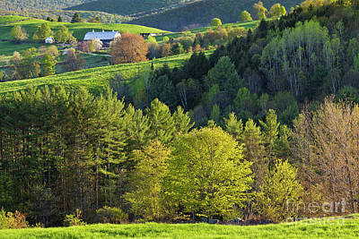 Photograph - Vermont Spring Countryside by Alan L Graham