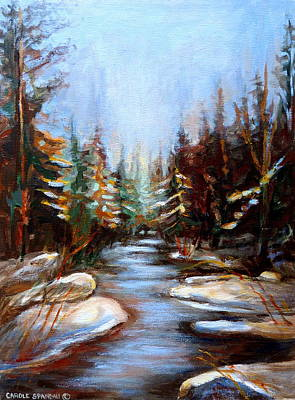 River Scenes Painting - Vermont Stream by Carole Spandau