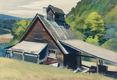 Rustic Barn Painting - Vermont Sugar House by Edward Hopper