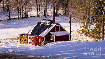 Photograph - Vermont Sugarhouse by Scenic Vermont Photography