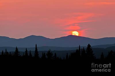 Photograph - Vermont Summer Sunset by Alan L Graham
