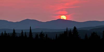 Photograph - Vermont Sunset Panorama by Alan L Graham